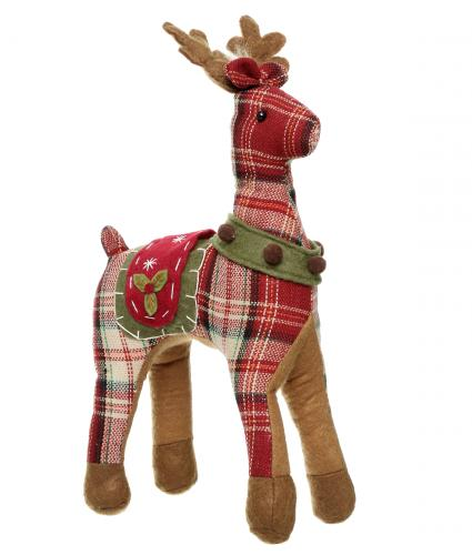 reindeer dark plaid print cancer research uk christmas gift