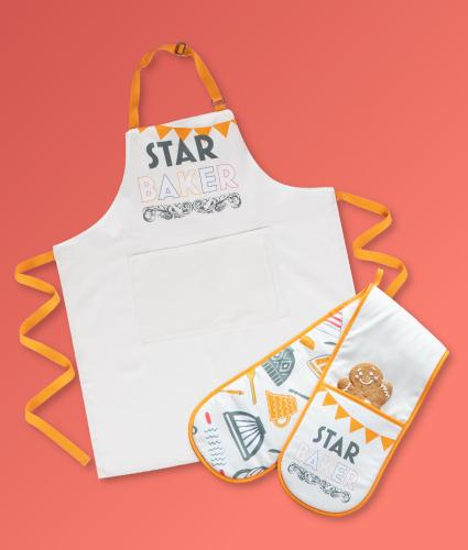 Bake Off 2020 Star Baker Apron and Oven Glove Bundle