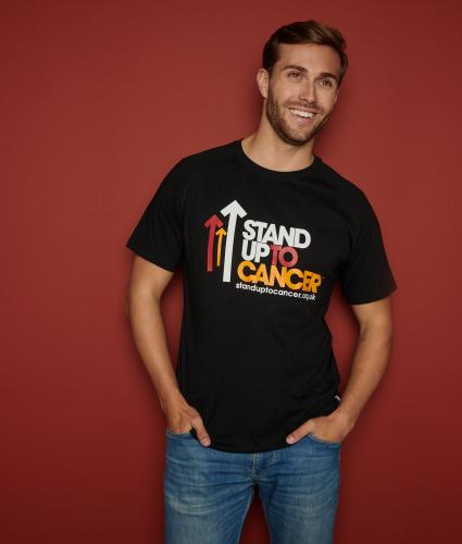 Stand Up To Cancer Men's Black T-Shirt - L