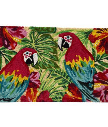 Tropical Parrot Doormat