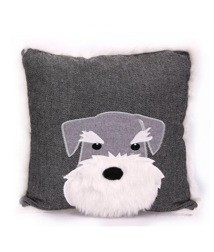 Scotty Dog Grey Cushion