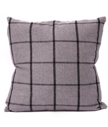 Checked Grey Cushion
