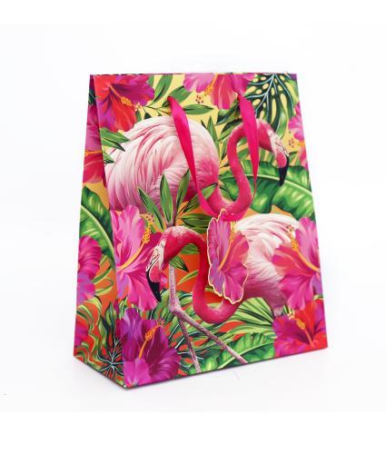 Tropical Medium Flamingo Gift Bag