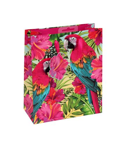 Tropical Medium Parrot Gift Bag