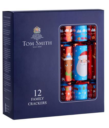 Tom Smith 12 Santa & Rudolf Christmas Crackers
