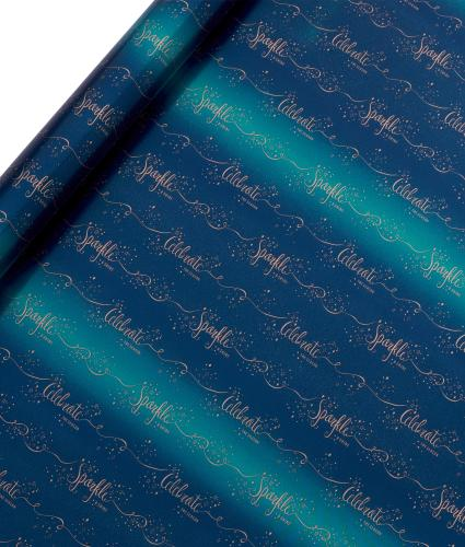 Tom Smith Blue Sparkle & Shine Wrapping Paper