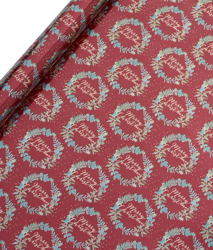 Tom Smith Red Festive Foliage Wrapping Paper