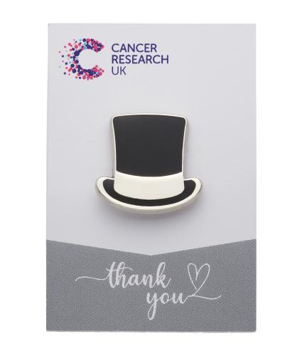 Top Hat Pin Badge - Wedding Favours
