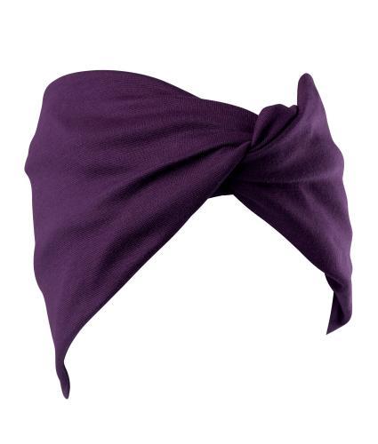Hipheadwear® Twist Headband in Plum