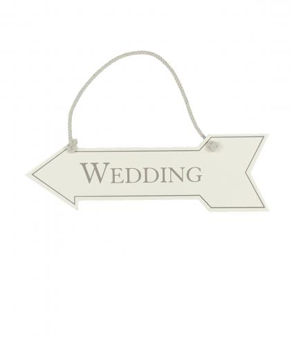 Hanging Arrow Wedding Sign, Wedding Gift, Cancer Research UK