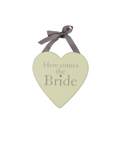 Here Comes the Bride Plaque, Wedding Gift, Cancer Research UK