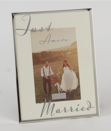 Just Married Frame, Wedding Gift, Cancer Research UK