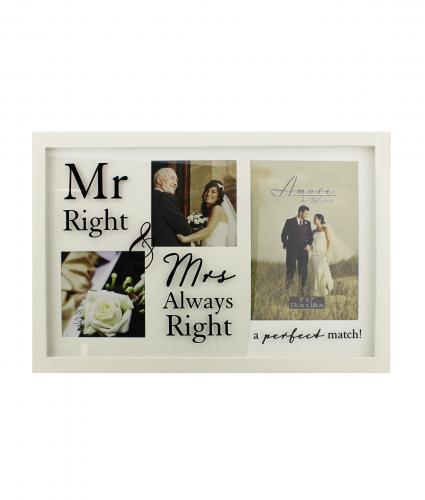 Mr Right & Mrs Always Right Frame, Wedding Gift, Cancer Research UK