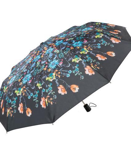 Floral Watercolour Print Umbrella Blue