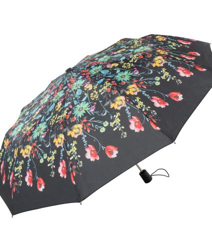 Floral Watercolour Print Umbrella Green