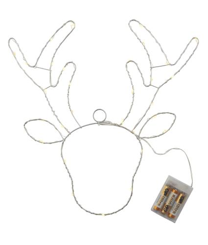 White LED Metal Reindeer Light