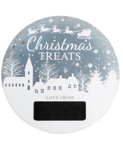 Winter Snow Globe Christmas Eve Plate