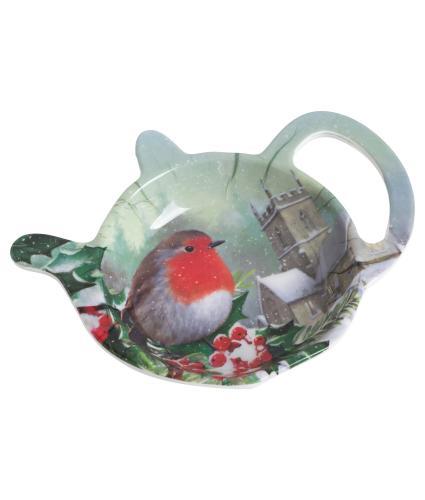 Winter Robin Teabag Tidy