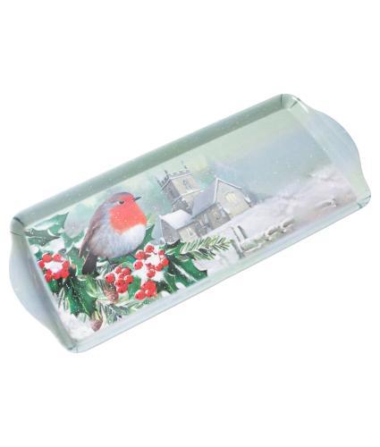 Winter Robin Tea Tray