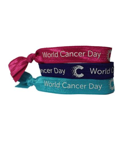 Pack of 3 Mixed World Cancer Day Unity Bands
