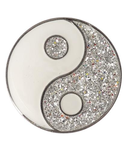 Glitter Ying & Yang Pin Badge