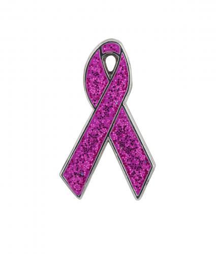 Dark Ribbon Pin Badge Cancer Research