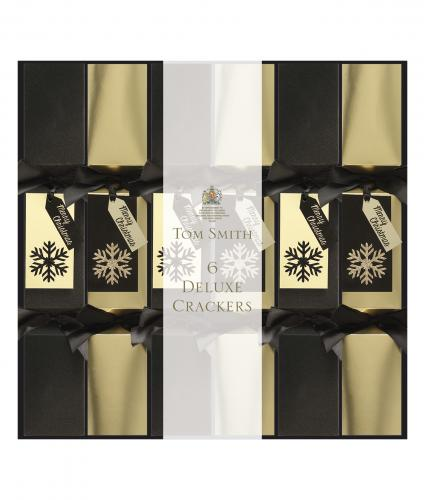 Deluxe Black and gold square crackers, cancer research uk