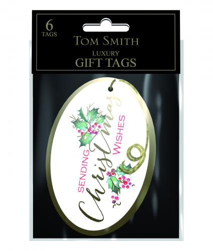 Festive Foliage tags Cancer Research uk Christmas Tags