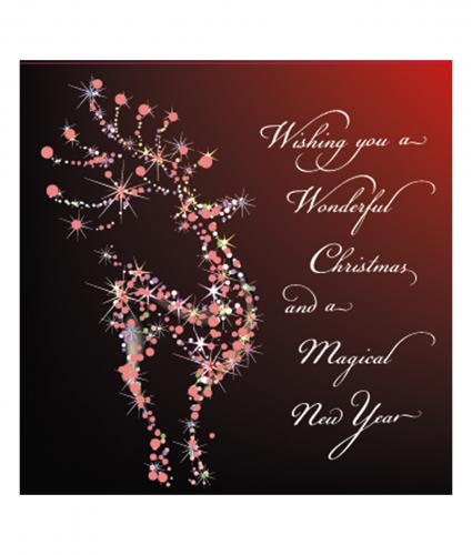 festive rudolph cancer research uk christmas card