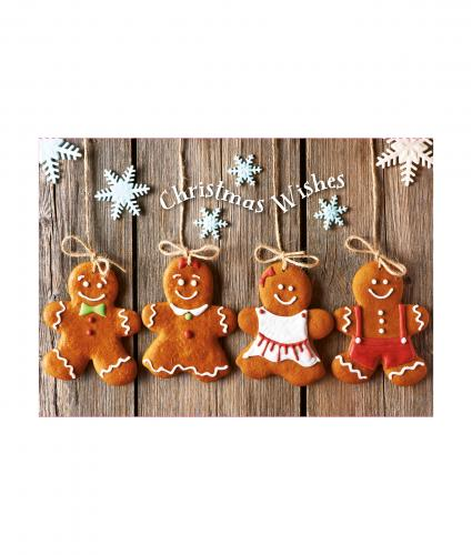 Gingerbread Fun Christmas Card - Pack of 10