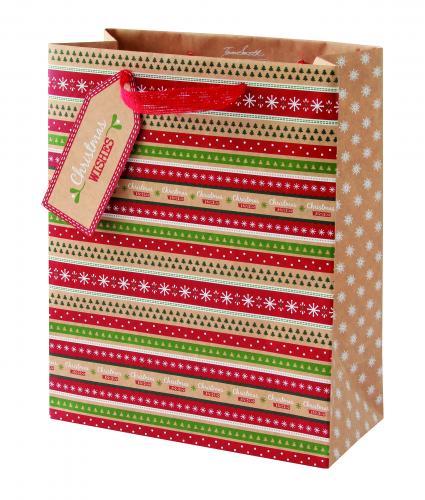 Kraft Medium Bag Cancer Research uk Christmas Bag