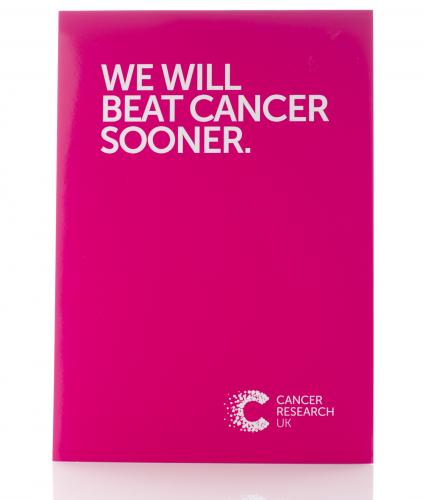Pink We Will Beat Cancer Sooner Notepad, Cancer Research UK