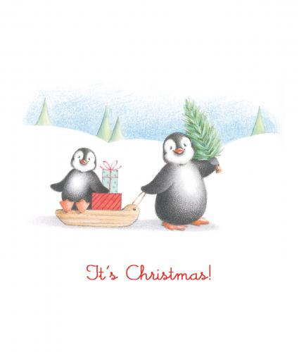 penguin pals cancer research uk christmas card