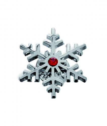 Snowflake Pin Badge Cancer Research UK