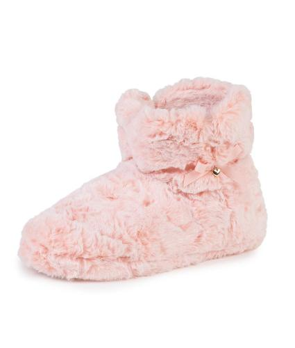 totes Fluffy Booties in Pink M