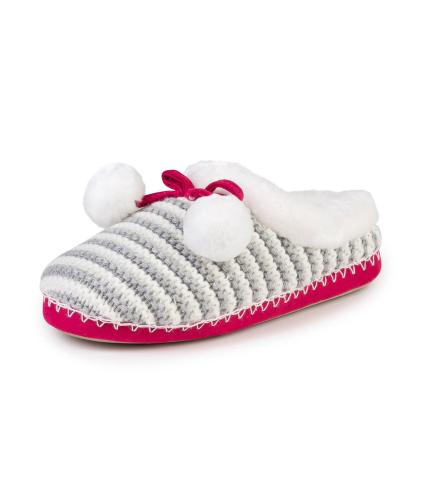 totes Knitted Mule Slippers in Mutli M