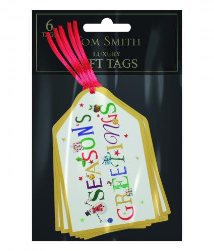 Whimsical tags Cancer Research uk Christmas Tags