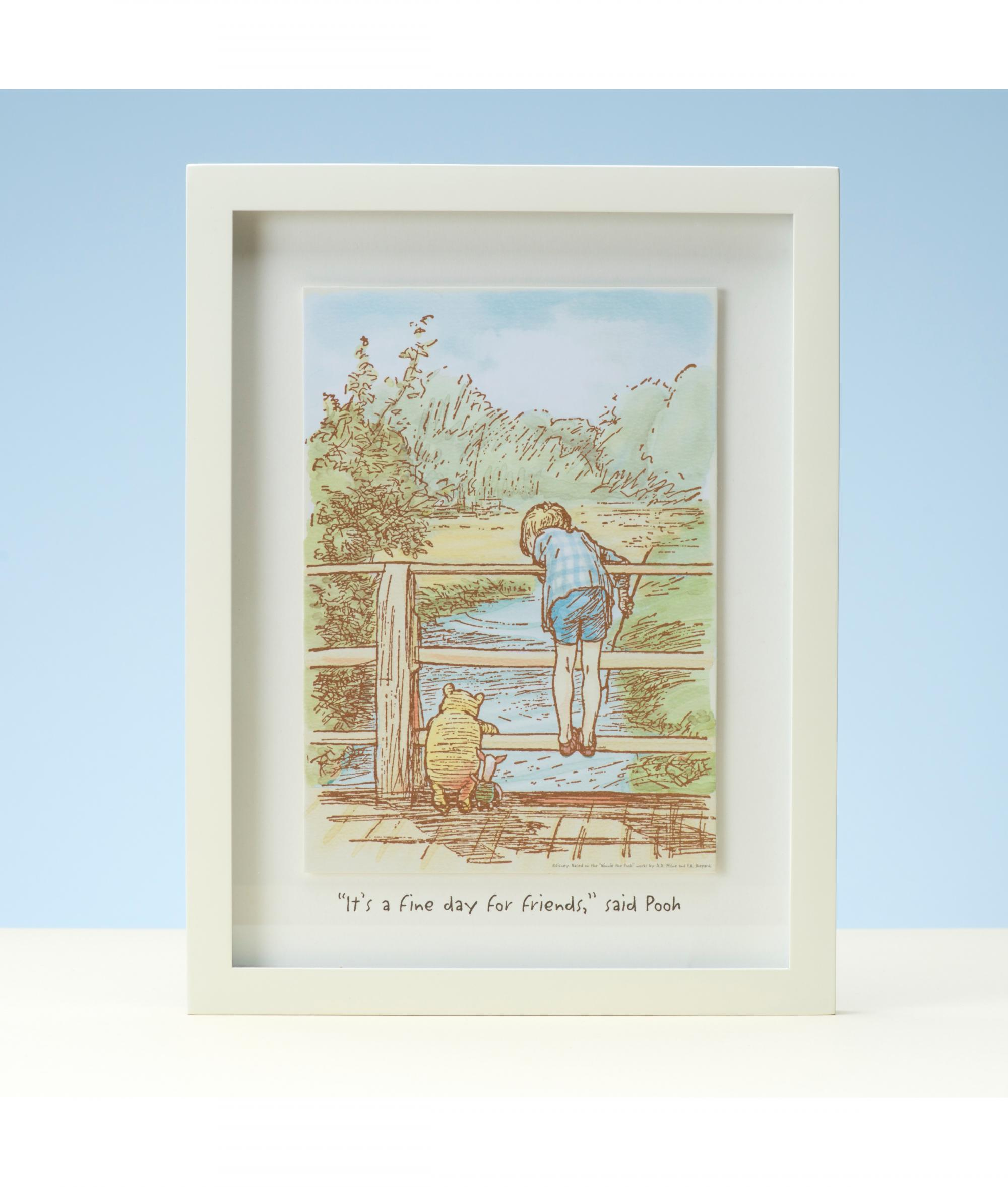 ce81f2d50079 Disney Classic Pooh Heritage Wall Art - Fine Day For Friends ...