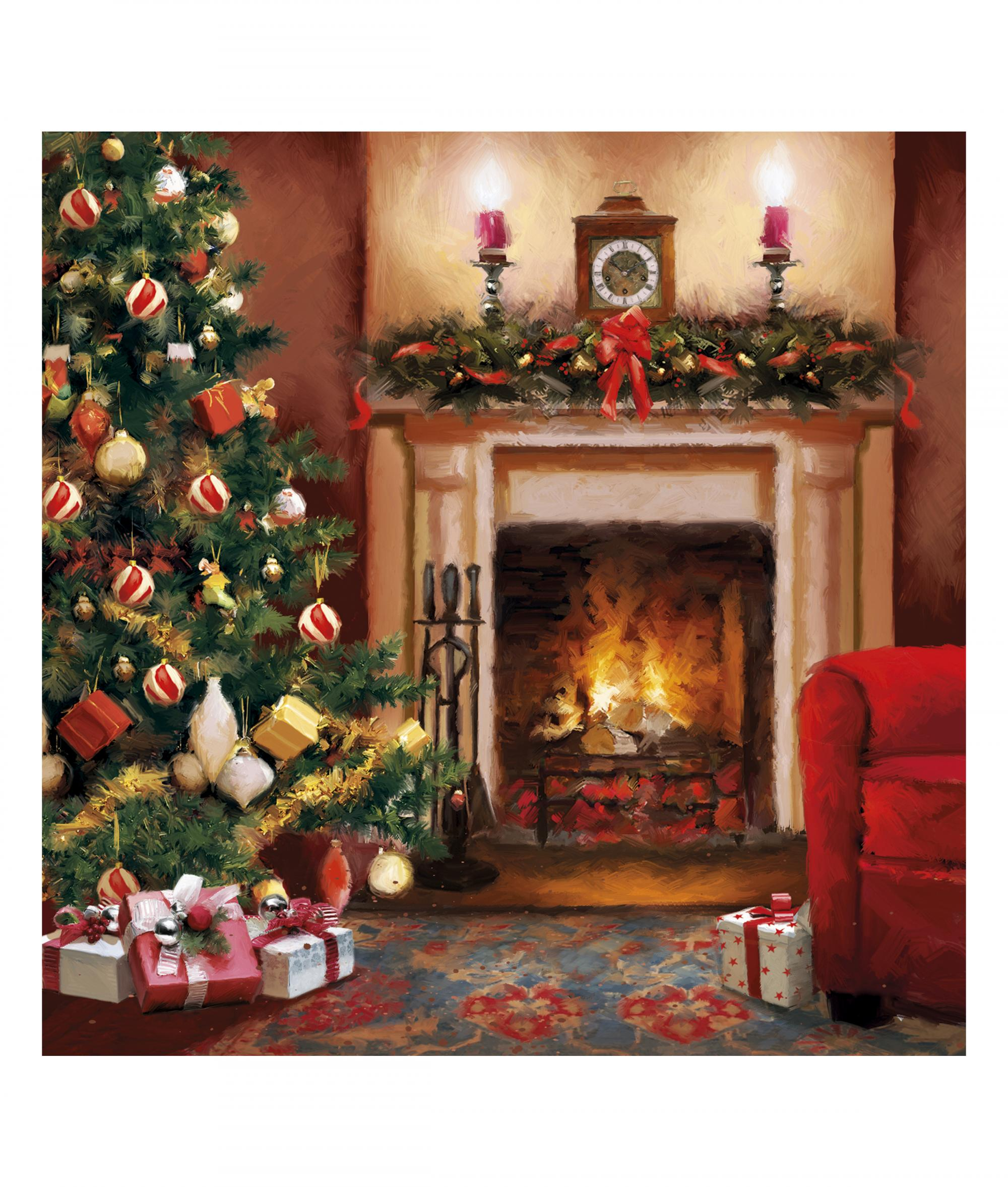 By The Fire Christmas Card Pack Of 10 Cancer Research Uk Online Shop