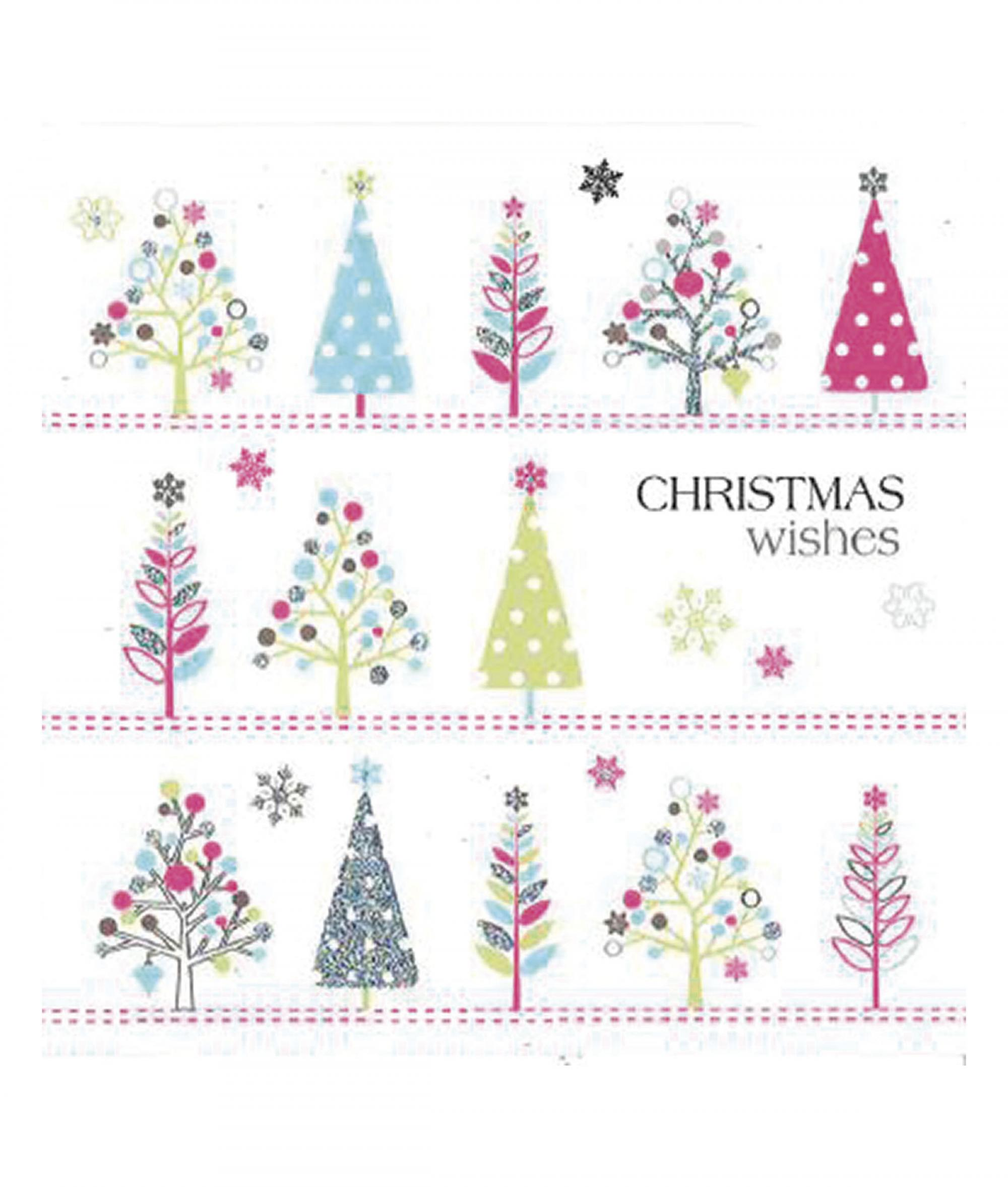 Tiny Trees Christmas Card - Pack of 10 | Cancer Research UK Online Shop
