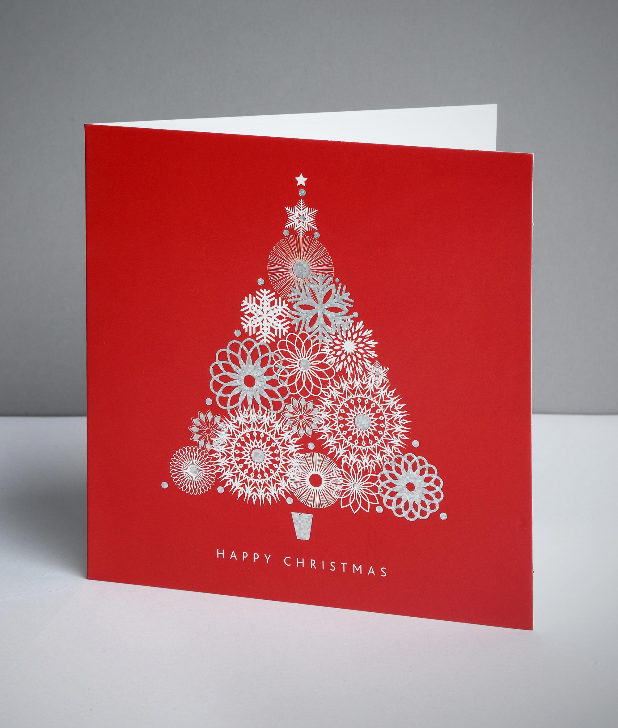 Abstract Tree Christmas Cards, Pack of 10 | Cancer Research UK ...