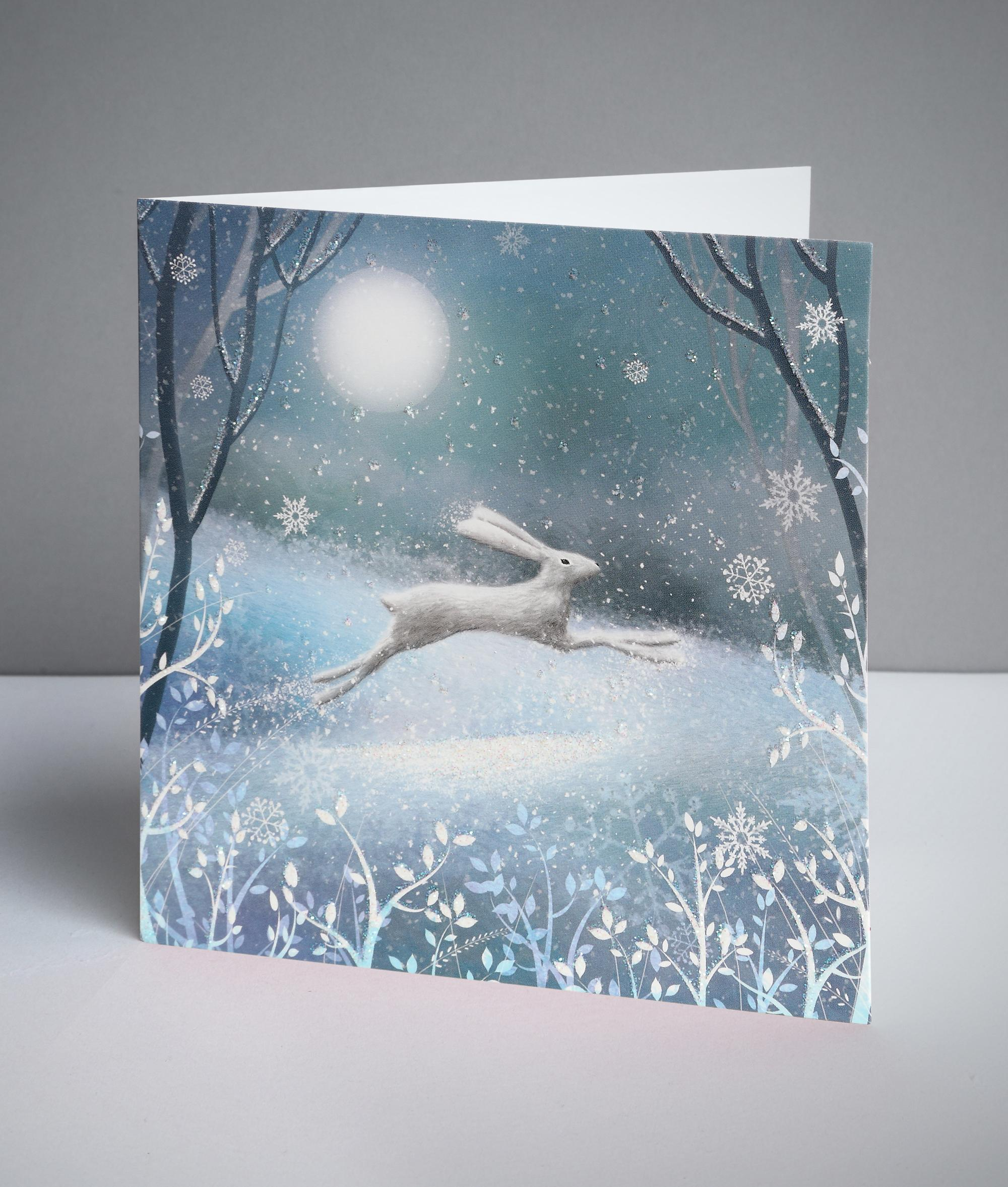 Moonlit Hare Christmas Cards, Pack of 10 | Cancer Research UK Online ...