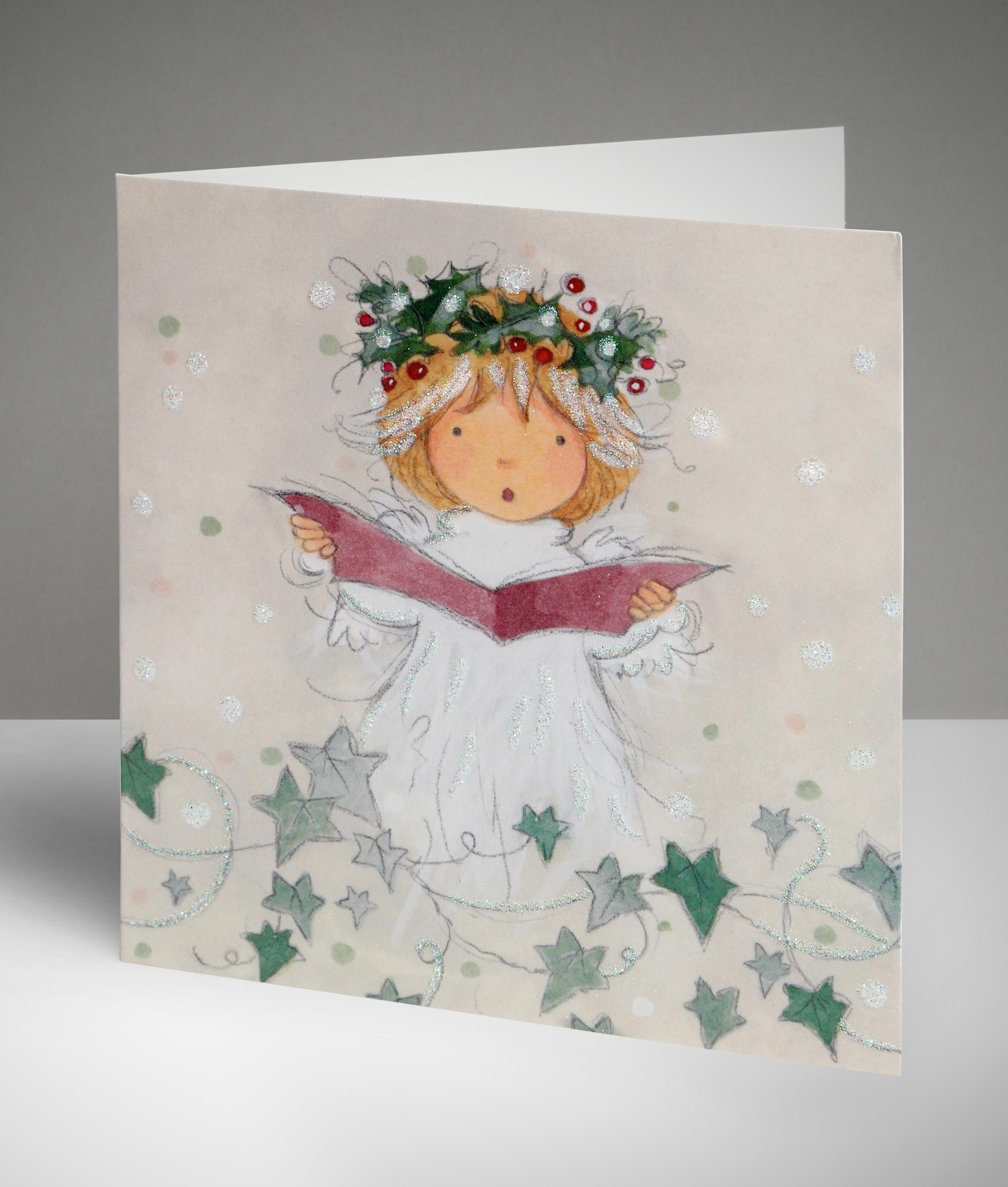 Singing angel christmas cards pack of 10 cancer research uk singing angel christmas cards pack of 10 kristyandbryce Choice Image