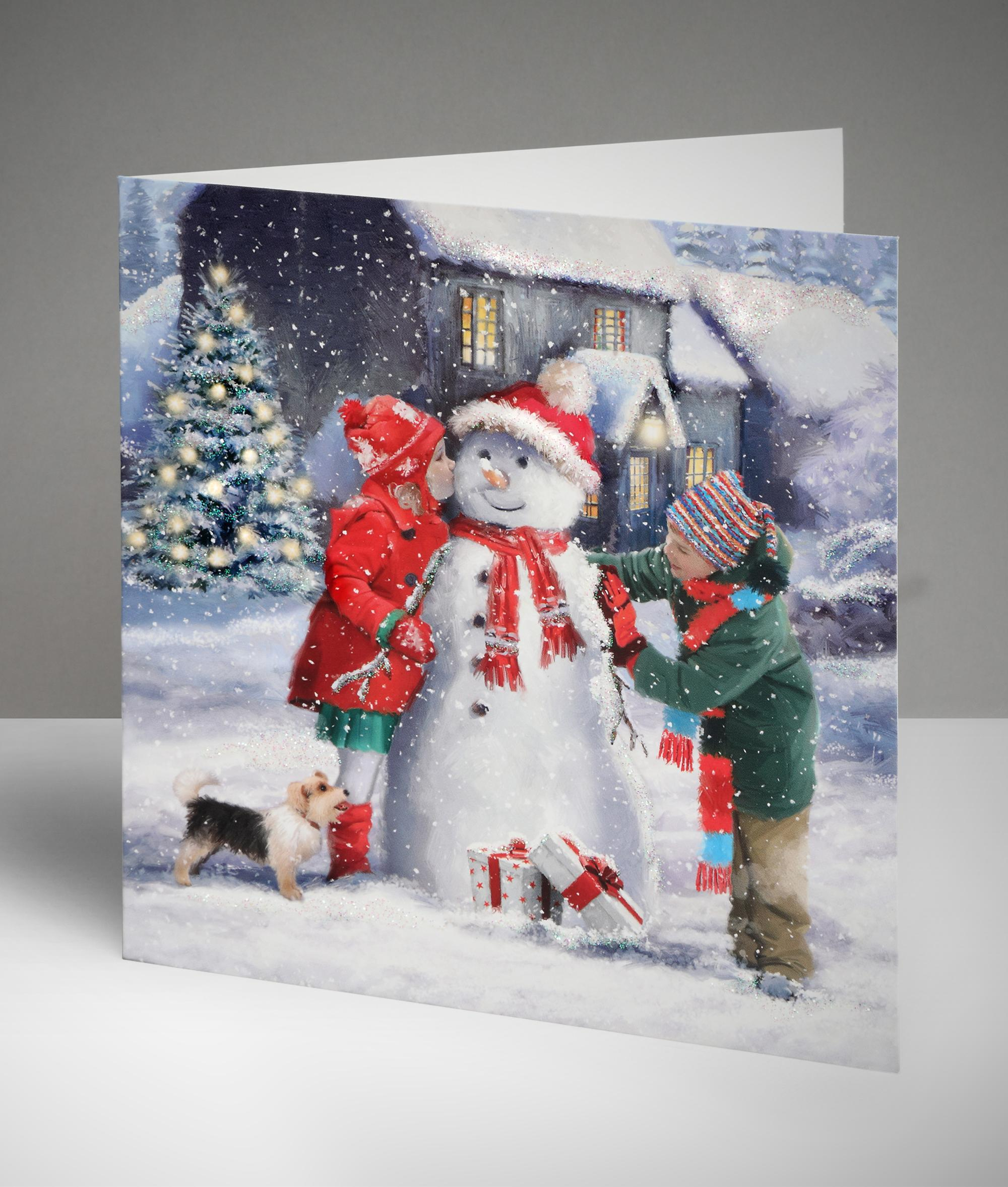 Dressing Up The Snowman Christmas Cards Pack Of 10