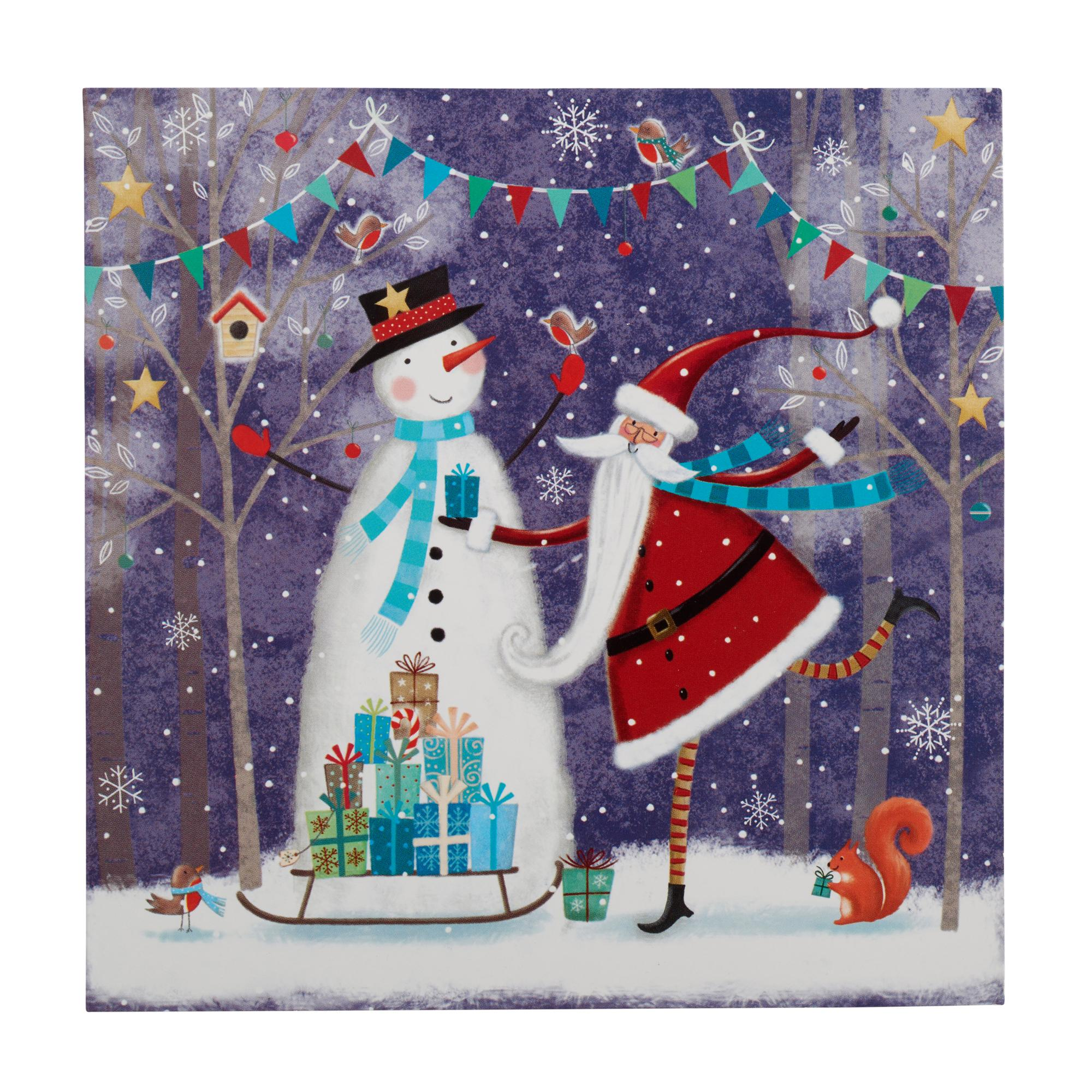 Santa and Snowman Christmas Cards - Pack of 10 | Cancer Research UK ...