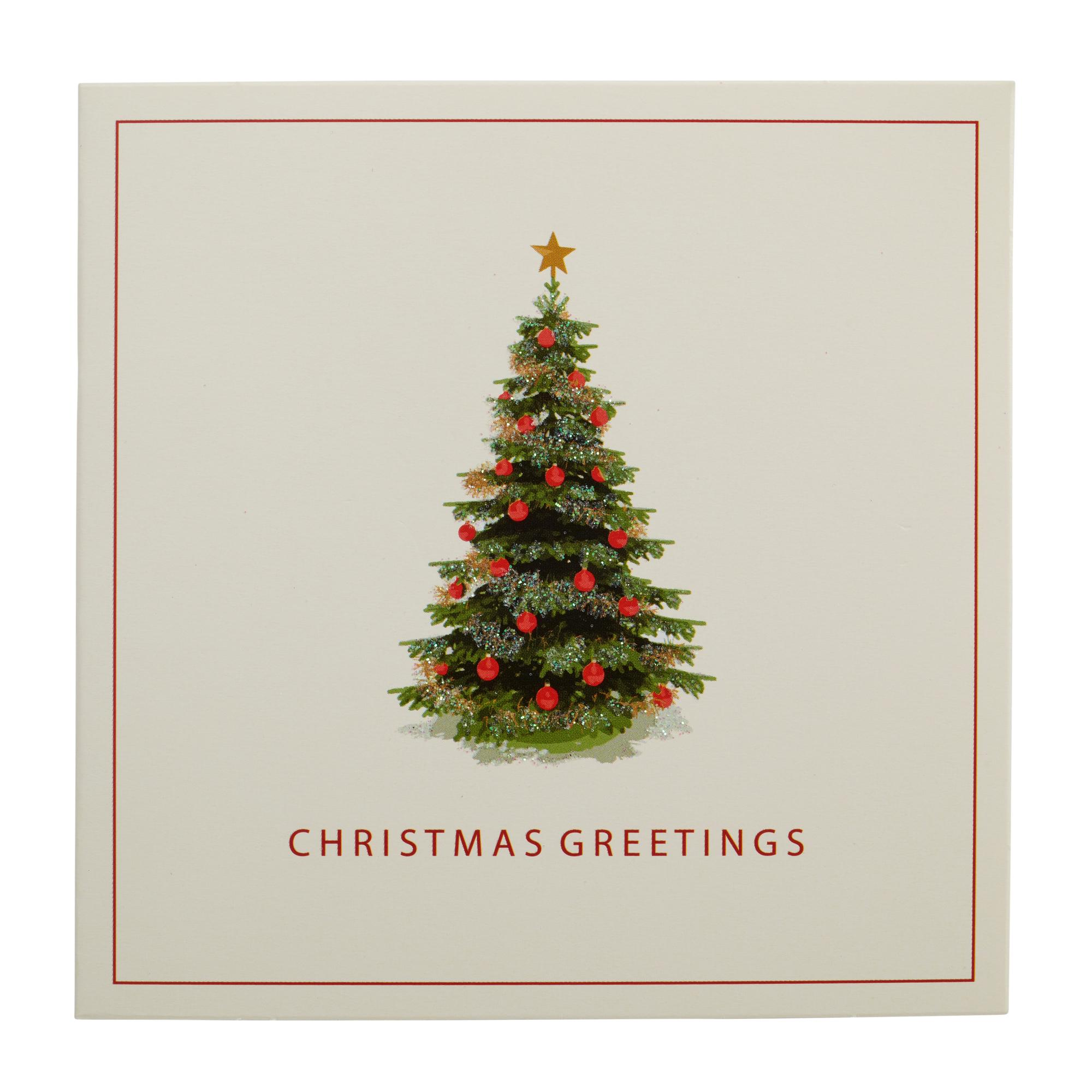 Traditional Christmas Tree Christmas Cards - Pack of 10 | Cancer ...