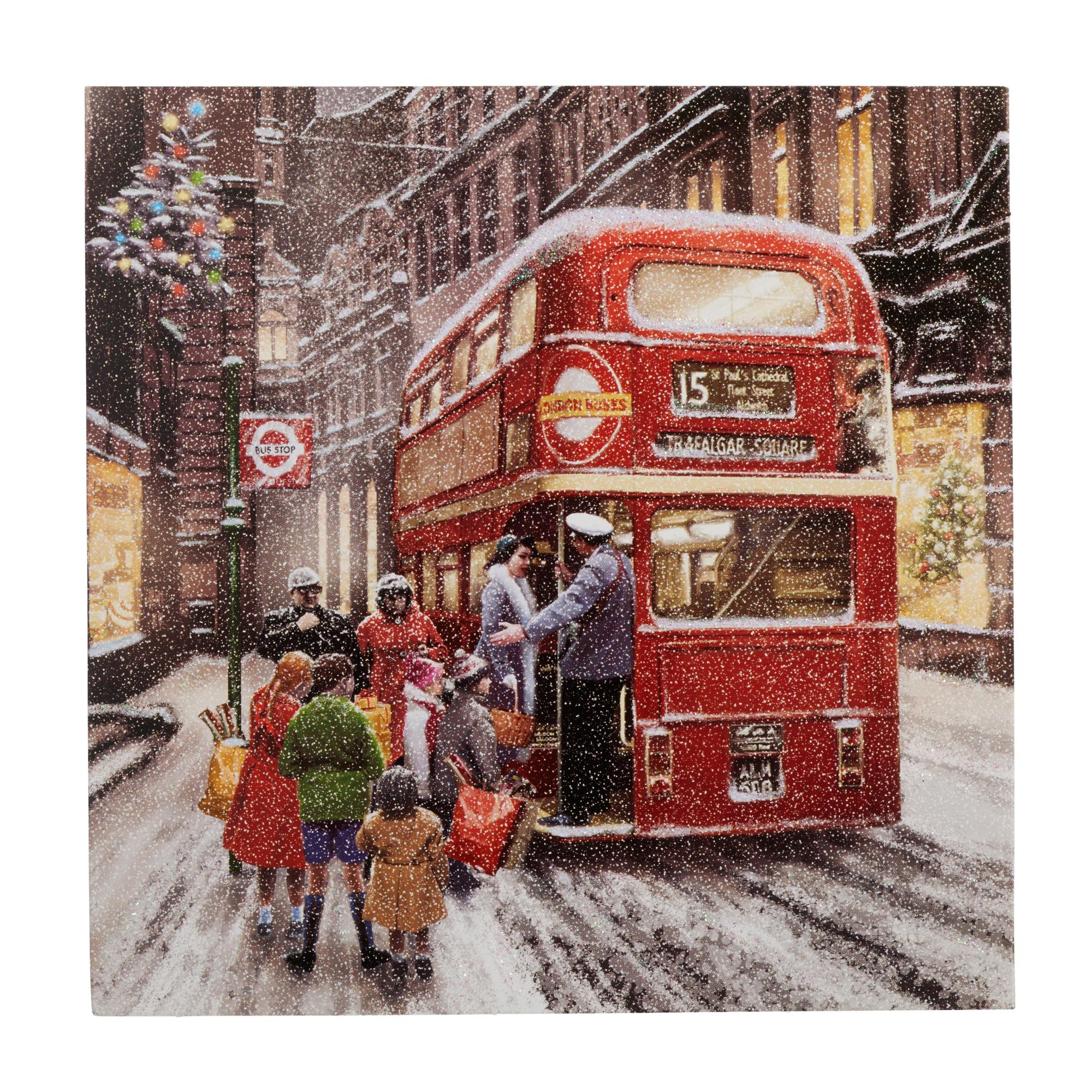 Wintery London Scene Christmas Cards Pack Of 10 Cancer