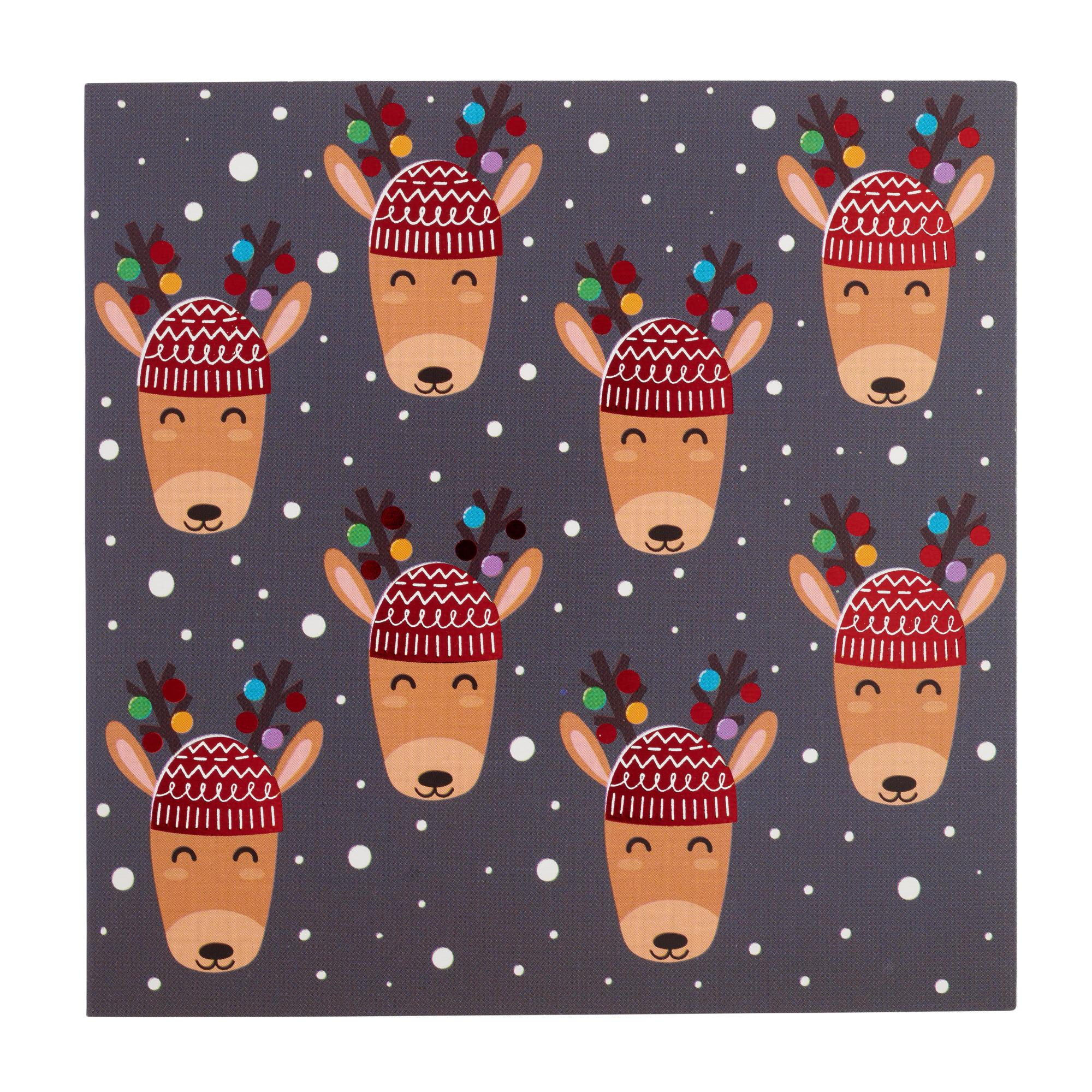 Mini Reindeer Christmas Cards - Pack of 20 | Cancer Research UK ...