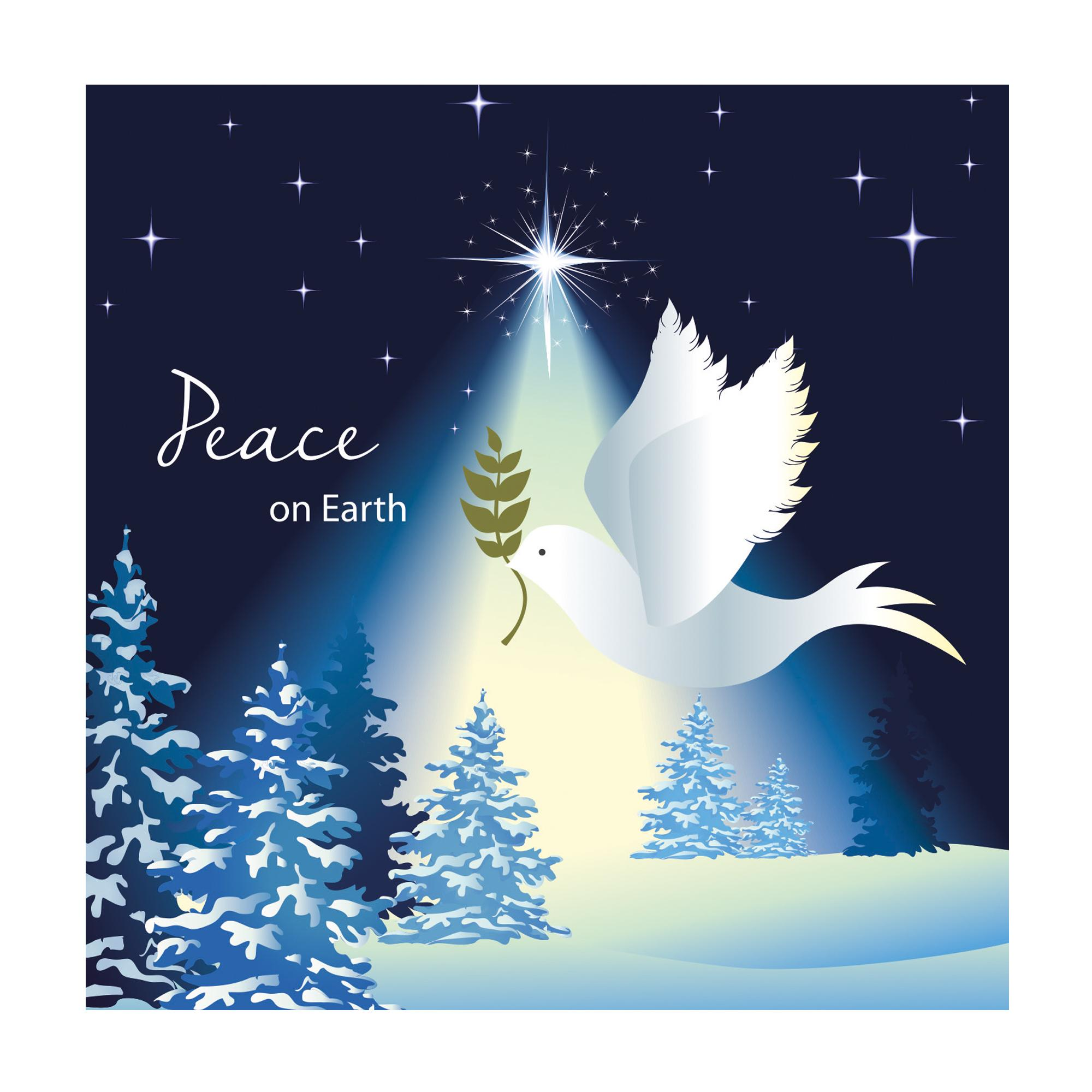 peace on earth dove christmas cards pack of 20 cancer research