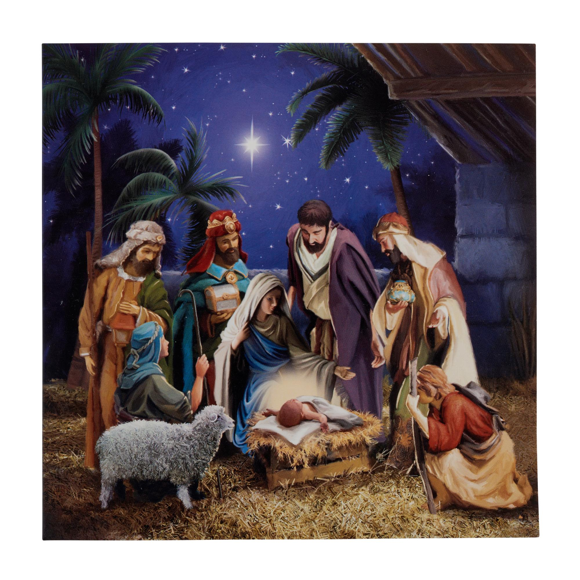 Winter Nativity Christmas Cards - Pack of 20 | Cancer Research UK ...